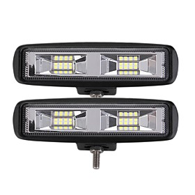 OTOLAMPARA 2 Pieces Most Popular 24W 2400LM 3030 16SMD 6000K LED Work Light Bar