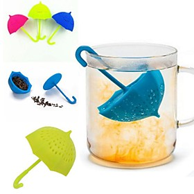 Umbrella Tea Infuser Silicone Tea Sttrainer Loose Leaf Filter Strainer