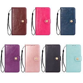 Case For Apple iPhone X / iPhone 8 Wallet / Card Holder / with Stand Full Body Cases Solid Colored Hard PU Leather for iPhone X / iPhone 8 Plus / iPhone 8