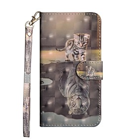 Case For Samsung Galaxy S9 Plus / S8 Plus Wallet / with Stand / Flip Full Body Cases Cat Hard PU Leather for S9 / S9 Plus / S8 Plus