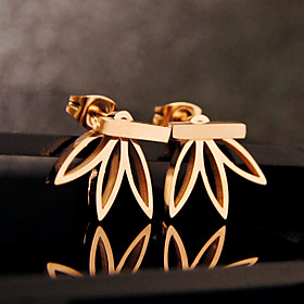 Women's Stud Earrings Front Back Earrings / Ear Jacket - Flower Basic, European Silver / Golden For Party Birthday Daily