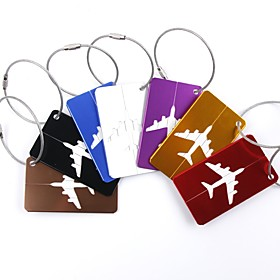 1pc Luggage Tag Luggage Accessory for Luggage Accessory Aluminium Alloy - Black / Red / Golden / White / Silver