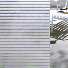 Window Film  Stickers Decoration Matte / Contemporary Striped PVC(PolyVinyl Chloride) Window Sticker / Matte