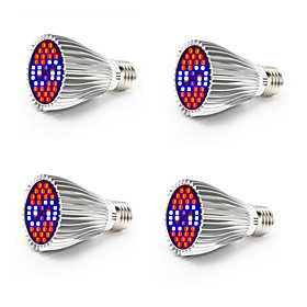 4pcs 800-1200 lm E26 / E27 Growing Light Bulb 40 LED Beads SMD 5730 Full Spectrum / Decorative White / Red / Blue 85-265 V / RoHS / FCC
