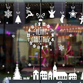 Window Film  Stickers Decoration Christmas Holiday PVC(PolyVinyl Chloride) Window Sticker