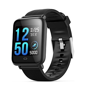 Q9 Waterproof Sports Smartwatch for Android iOS Bluetooth Heart Rate Monitor Blood Pressure Measurement Touch Screen Calories Burned Exercise Record Timer Stop