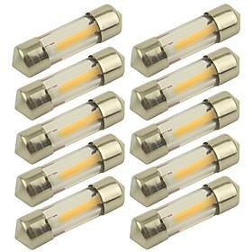 10pcs 31mm Car Light Bulbs 1 W COB 100 lm 1 LED Turn Signal Light For