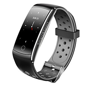 Indear Q8S Smart Bracelet Smartwatch Android iOS Bluetooth Waterproof Heart Rate Monitor Blood Pressure Measurement Touch Screen Timer Pedometer Call Reminder