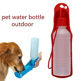 0.03-0.05 L Dogs / Cats Bowls  Water Bottles Pet Bowls  Feeding Portable / Outdoor Red / Blue / Pink