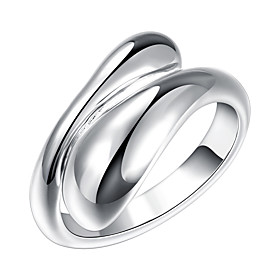 Women's Band Ring wrap ring Silver Plated Alloy Ladies Open Ring Jewelry Silver For Party Adjustable