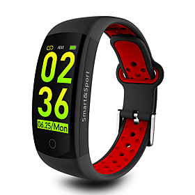 KUPENG Q6S Smart Bracelet Smartwatch Android Bluetooth Sports Waterproof Heart Rate Monitor Blood Pressure Measurement Touch Screen Stopwatch Pedometer Call Re