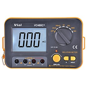 VICHY VICI VC480C Digital Multimeter Multimetro Diagnostic-tool Tester 3 1/2 Milli-ohm Backlit Meter With 4 Wire Test