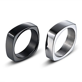 Men's Vintage Style Classic Band Ring Creative Stylish Simple Vintage Ring Jewelry Black / Silver For Daily Street 7 / 8 / 9 / 10 / 11