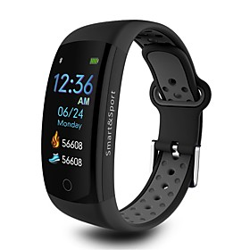 Indear Q6S Smart Bracelet Smartwatch Android iOS Bluetooth Sports Waterproof Heart Rate Monitor Blood Pressure Measurement Touch Screen Timer Pedometer Call Re