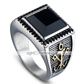 Men's Vintage Style 3D Band Ring - Titanium Steel Vintage, Punk 9 / 10 Gold / Silver For Halloween Daily Street