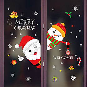 Window Film  Stickers Decoration Animal / Christmas Character PVC(PolyVinyl Chloride) Window Sticker / Adorable / Funny