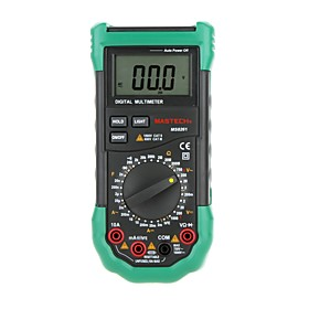 MASTECH MS8261 Digital Multimeter 3 1/2 AC DC V/ACapacitance Resistance Transistor Tester Meter backlight
