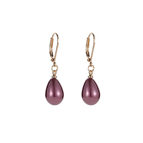 Women's Stylish Drop Earrings - Imitation Pearl Pear Sweet, Fashion Gray / Wine / Light Pink For Party / Evening Prom