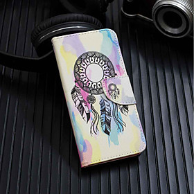 Case For Huawei Y6 (2018) / Y6 (2017)(Nova Young) Wallet / Card Holder / with Stand Full Body Cases Dream Catcher Hard PU Leather for Huawei Y6 (2018) / Huawei