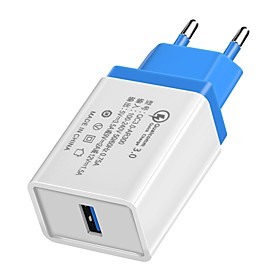 Home Charger / Portable Charger USB Charger EU Plug QC 3.0 1 USB Port 3.5 A 100~240 V for Universal
