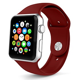 Silica Gel Watch Band Strap for Apple Watch Series 3 / 2 / 1 White / Orange / Grey 23cm / 9 Inches 2.1cm / 0.83 Inches