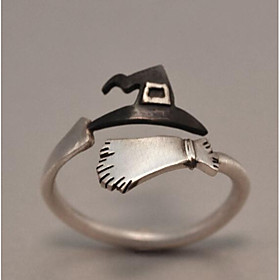 Men's Vintage Style Open Ring wrap ring Silver Plated Creative Vintage Punk Ring Jewelry Silver For Christmas Halloween Adjustable