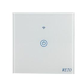 WETO W-T11 EU/US/CN 1 Gang WiFi Smart Wall Switch Touch Sensor Switch Smart Home Remote Control Works With Alexa Google Home via Smart Phone