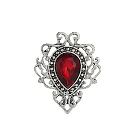 Women's Synthetic Sapphire Synthetic Ruby Hollow Brooches Drop Ladies Simple Vintage Gothic Lolita Brooch Jewelry Red Green Blue For Party Engagement Gift Form