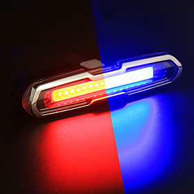 LED Bike Light Rear Bike Tail Light Safety Light Tail Light Mountain Bike MTB Cycling Waterproof Color Gradient Rechargeable Li-Ion Battery 150 lm Change Cycli