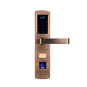 Factory OEM Stainless Steel Intelligent Lock Smart Home Security iOS / Android System RFID / Anti peeping password / Random security code settings Home / Bedro