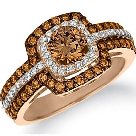 Women's Layered Ring - Stylish, Luxury 6 / 7 / 8 / 9 / 10 Champagne For Gift Evening Party