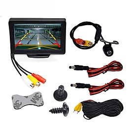 BYNCG WG4.3T-4LED 4.3 inch TFT-LCD 480TVL 480p 1/4 inch color CMOS Wired 120 Degree 1 pcs 120 ° 4.3 inch Rear View Camera / Car Reversing Monitor / Car Rear Vi