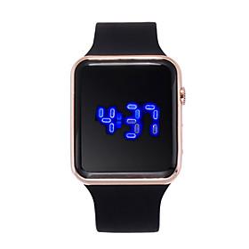 Women's Digital Watch Digital Silicone Black 30 m Creative LCD Digital Fashion - Purple Fuchsia Rose Gold