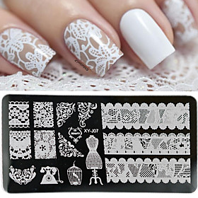 1 pcs Nail DIY Tools Nail Painting Tools Template Romantic Series / White Series Classic / Durable nail art Manicure Pedicure Vintage / European Halloween / Bl
