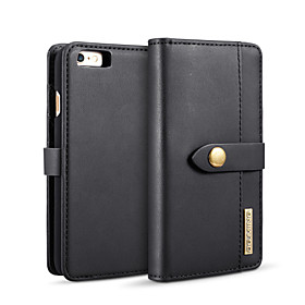 DG.MING Case For Apple iPhone 6 / iPhone 6s Wallet / Card Holder / with Stand Full Body Cases Solid Colored Hard PU Leather for iPhone 6s / iPhone 6