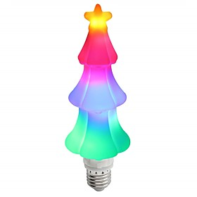 1pc Christmas lights E27 65leds Decoration Holiday Lamp Flame Effect Light Colorful 3D Christmas Tree for Home Holiday Decoration