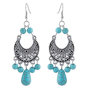 Women's Hollow Out Drop Earrings Resin Earrings Drop Ladies Vintage European Fashion western style Jewelry Turquoise For Party Office  Career 1 Pair