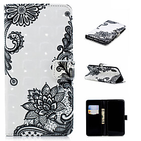 Case For Apple iPhone XS / iPhone XS Max Wallet / Card Holder / with Stand Full Body Cases Lace Printing Hard PU Leather for iPhone XS / iPhone XR / iPhone XS
