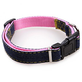 Dogs Cats Pets Collar Dog Training Collars Waterproof Portable Mini Solid Colored Nylon Blue Pink Black