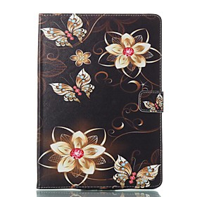 Case For Apple iPad (2018) / iPad Pro 11'' / iPad 4/3/2 Card Holder / with Stand / Flip Full Body Cases Butterfly / Flower Hard PU Leather for iPad Air / iPad