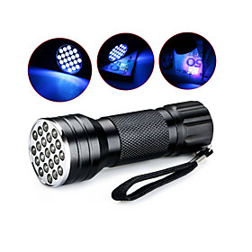 D12UV-1-0-2 LED Flashlights / Torch Black Light Flashlights / Torch Handheld Flashlights / Torch LED 5mm Lamp 21 Emitters 1 Mode Waterproof Ultraviolet Light C