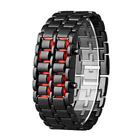 Men's Digital Watch Quartz Black 30 m LCD Digital Casual Fashion - Orange / Black Silver / Blue Silver / Red