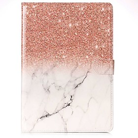Case For Apple iPad (2018) / iPad Pro 11'' / iPad 4/3/2 Card Holder / with Stand / Flip Full Body Cases Marble Hard PU Leather for iPad Air / iPad 4/3/2 / iPad