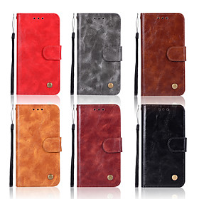 Case For Nokia Nokia 8 Sirocco / Nokia 5.1 Wallet / Card Holder / with Stand Full Body Cases Solid Colored Hard PU Leather for Nokia 8 Sirocco / Nokia 7 Plus /