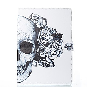Case For Apple iPad (2018) / iPad Pro 11'' / iPad 4/3/2 Card Holder / with Stand / Flip Full Body Cases Skull / Flower Hard PU Leather for iPad Air / iPad 4/3/