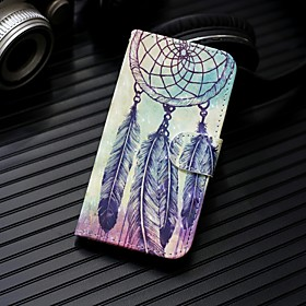Case For Samsung Galaxy A7(2018) / A5(2018) Wallet / Card Holder / with Stand Full Body Cases Dream Catcher Hard PU Leather for A5(2018) / A7(2018) / A3(2017)