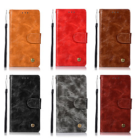 Case For Asus Zenfone 4 ZE554KL / Zenfone 4 Selfie ZD553KL Wallet / Card Holder / with Stand Full Body Cases Solid Colored Hard PU Leather for ASUS ZenFone Max