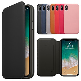 Case For Apple iPhone XR / iPhone XS Max Wallet / Card Holder / with Stand Full Body Cases Solid Colored Hard PU Leather for iPhone XS / iPhone XR / iPhone XS