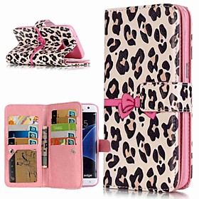 Case For Samsung Galaxy S9 Plus / S8 Wallet / Card Holder / with Stand Full Body Cases Leopard Print Hard PU Leather for S9 / S9 Plus / S8 Plus