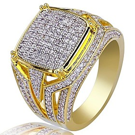 Men's Cubic Zirconia Classic Ring - Stylish, Luxury 7 / 8 / 9 / 10 / 11 Gold For Party Gift